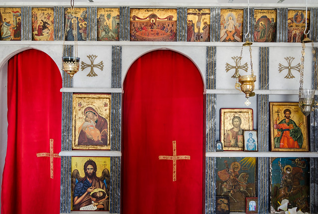 inside in Agios Minas church, Serifos, Greece