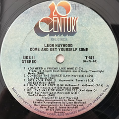 LEON HAYWOOD:COME AND GET YOURSELF SOME(LABEL SIDE-B)