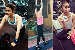 Alia Bhatt Doing Fitness Workout in Gym