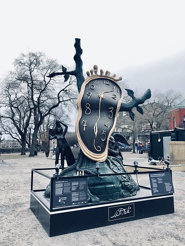 salvador dali sculpture in stockholm, february 2019 -