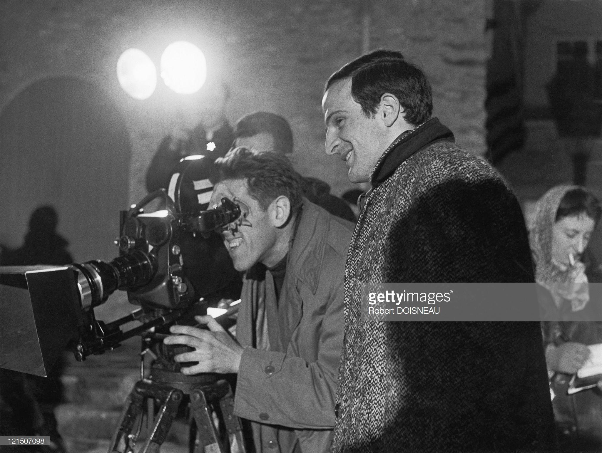 1960. Франсуа Трюффо на съемках «Стреляйте в пианиста»
