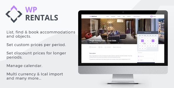 WP Rentals v2.2 - Booking Accommodation WordPress Theme