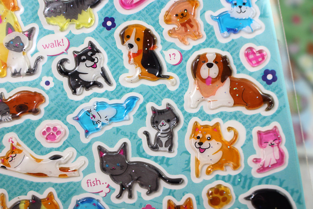 Adorable Cat and Dog Stickers 2