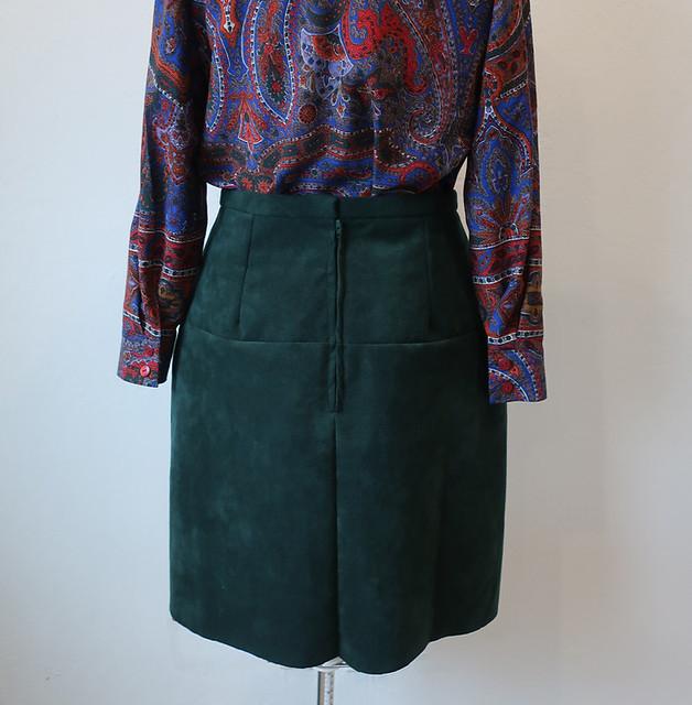 suede skirt back on form