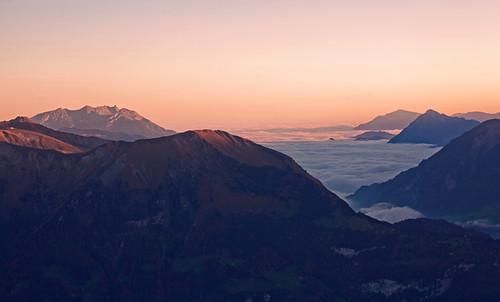 Sunrise over the Bernese alps