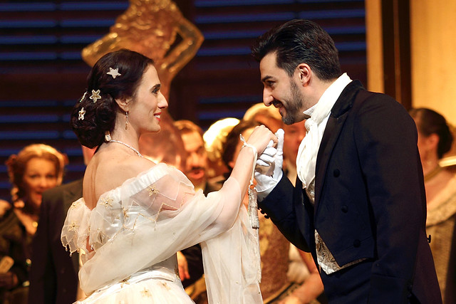 Ermonela Jaho as Violetta Valéry and Charles Castronovo as Alfredo Germont in La traviata, The Royal Opera © 2019 ROH. Photographed by Catherine Ashmore
