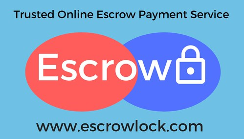 Trusted Online Escrow Payment Service blue background