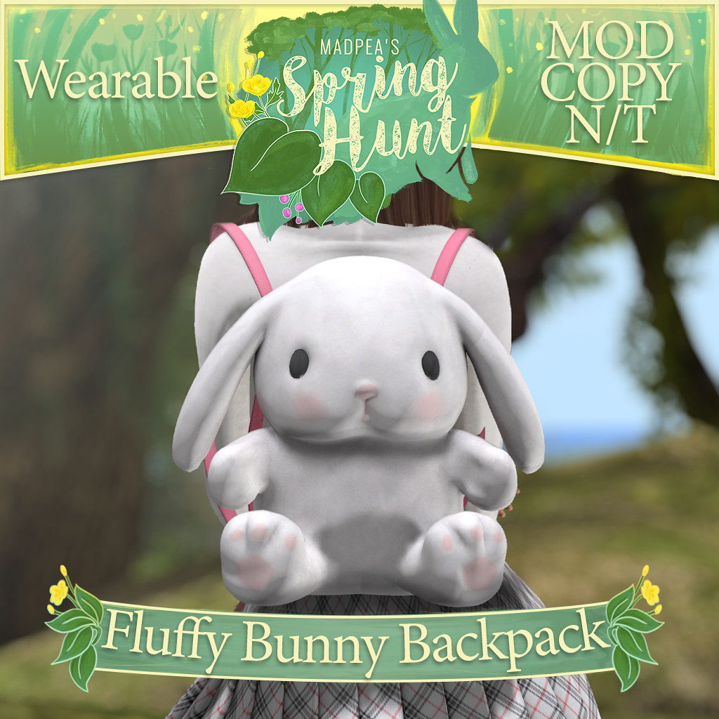 MadPea Spring Hunt – Fluffy Bunny Backpack!