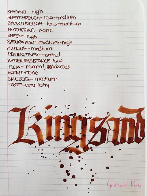 Conway Stewart Kingsand Ink 6