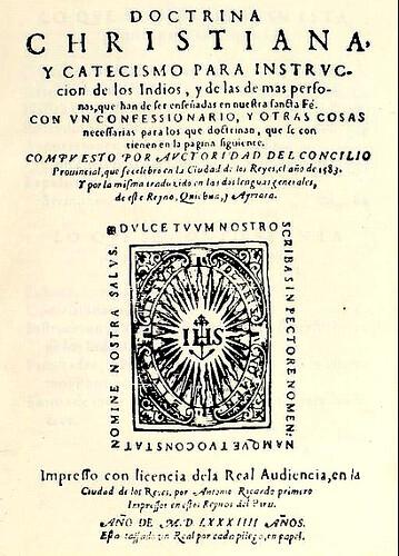 Catecismo 1583 quechua-aimara-español