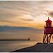 Herd Groyne Lighthouse by Hawk 3663