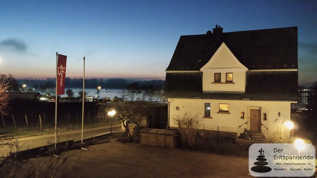 Blick auf den Rhein von Nägler's Fine Lounge Hotel