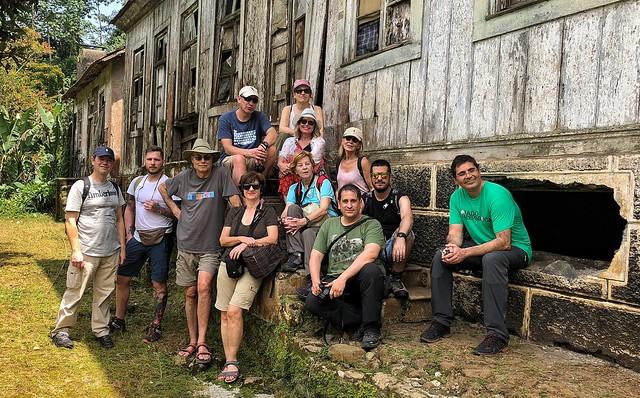 El grupo del primer viaje de autor a Santo Tomé y Príncipe en Roça Sao Nicolau