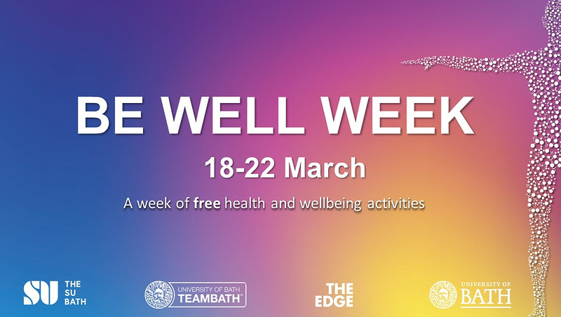 Be Well Week poster