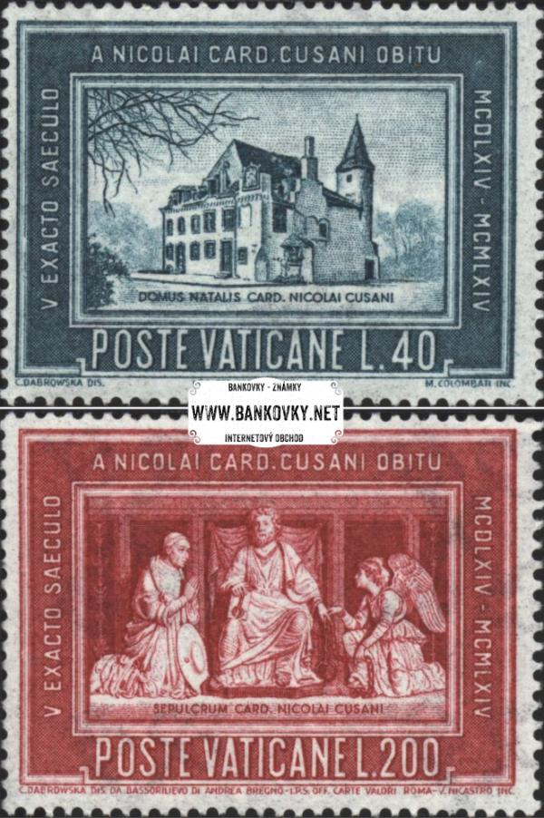 Známky Vatikán 1964 Nikolaj z Kues, neraz