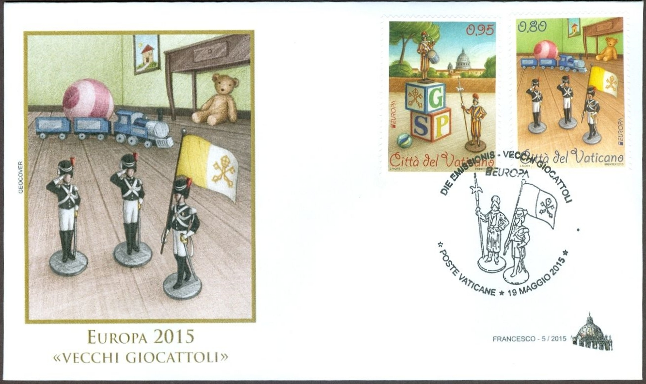 Vatican City - Scott #1591-1592 (2015) first day cover