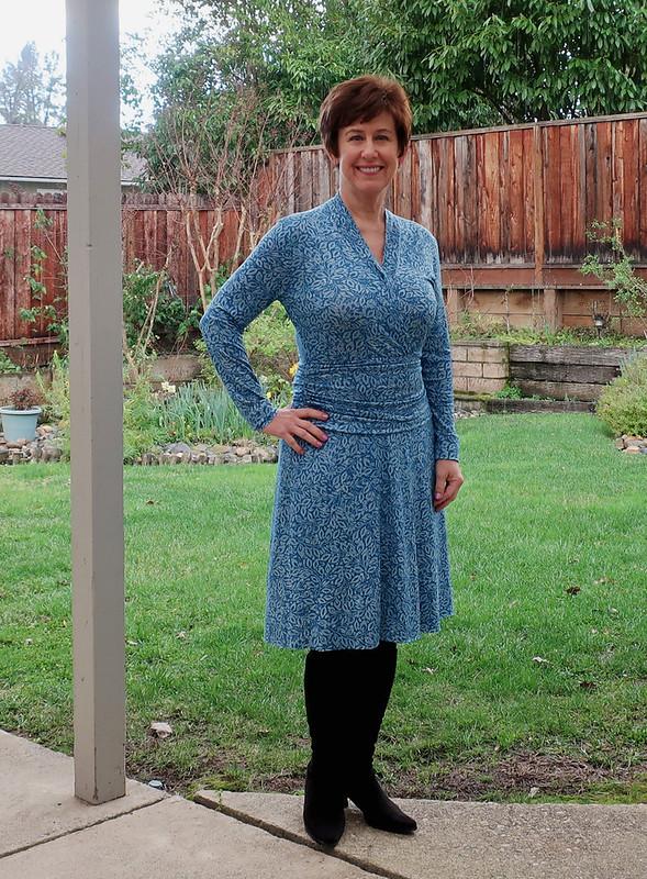 Burda jersey dress 5