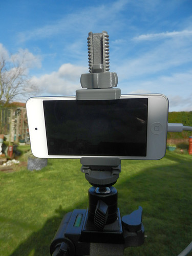 iPod set up for time lapse video