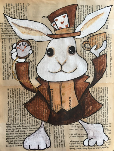 10 - Time - White Rabbit - Art Journal