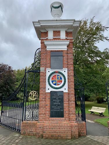 Gate at Queens Park, Invercargill - 1882
