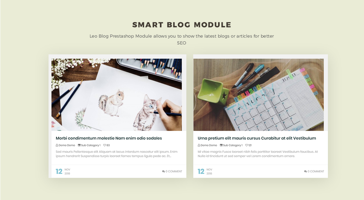 smart blog module - Leo Neons - Stationery Prestashop theme
