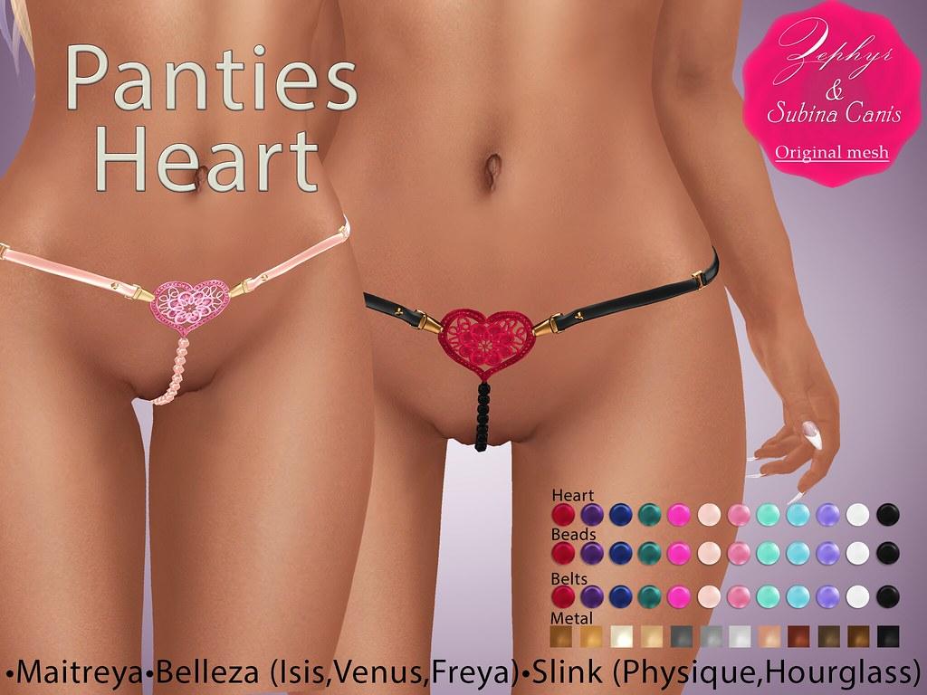 Zephyr Panties Heart