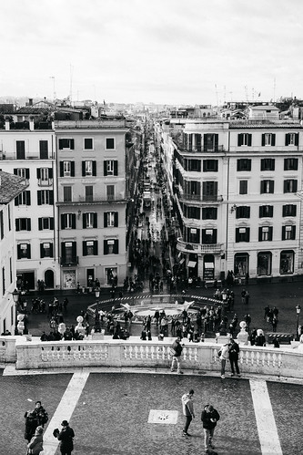 """Image titled """"From Spanish Steps, Rome. (B&W)"""""""