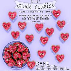 :glutz: crude cookies