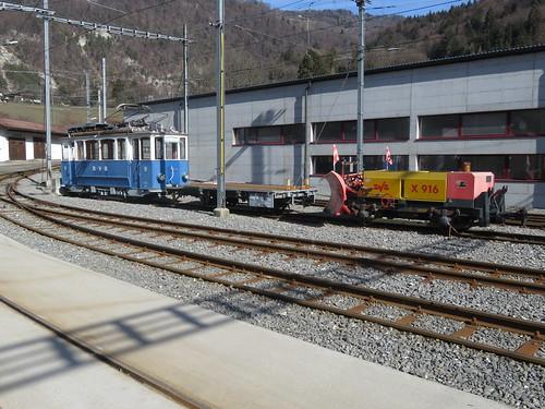 Trains Bex Villars Bretaye (Suisse)