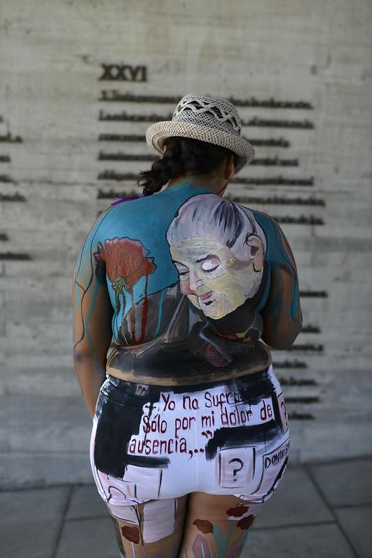 """Intervención artística """"Cuerpos Rebeldes"""""""