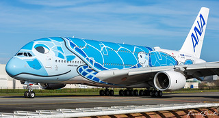 First Airbus A380 ANA All Nippon Airways JA381A