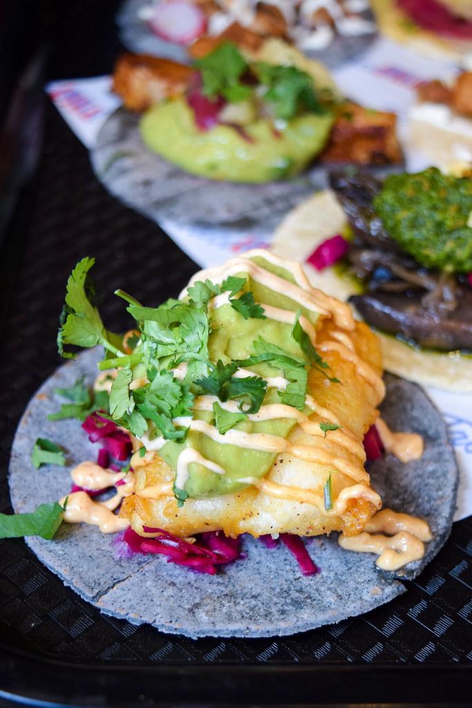 Baja Fish Tacos at Taco Bill Pop Up at Alberrys, Canterbury