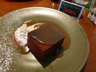 Sticky Date Pudding at The Green Edge Christmas Dinner