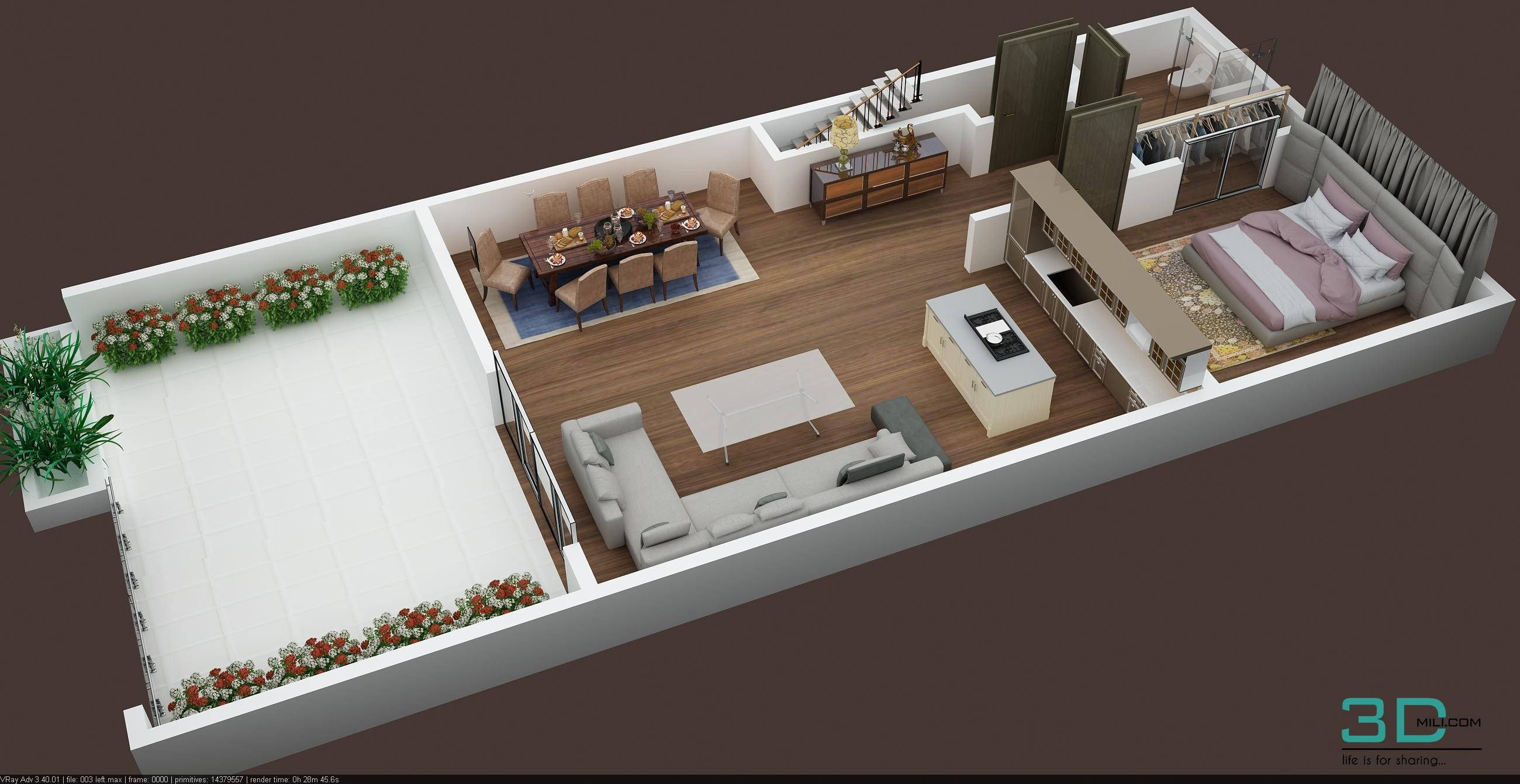 3d Floor Plan Of Commercial Building 2nd Floor 3d Mili