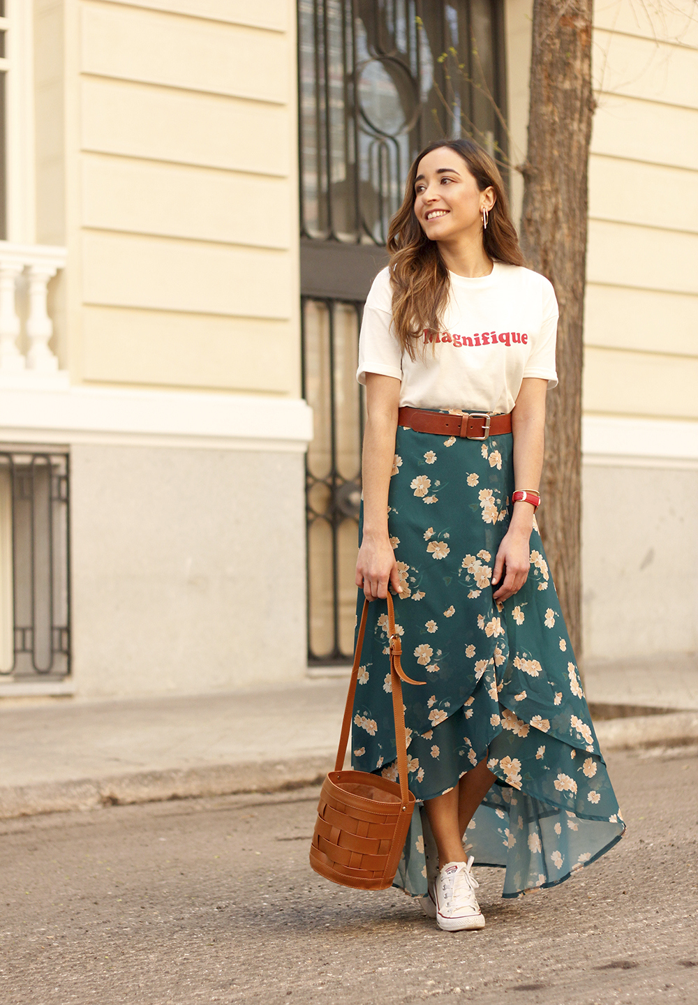 floral maxi converse skirt tshirt find amazon fashion street style outfit 20193