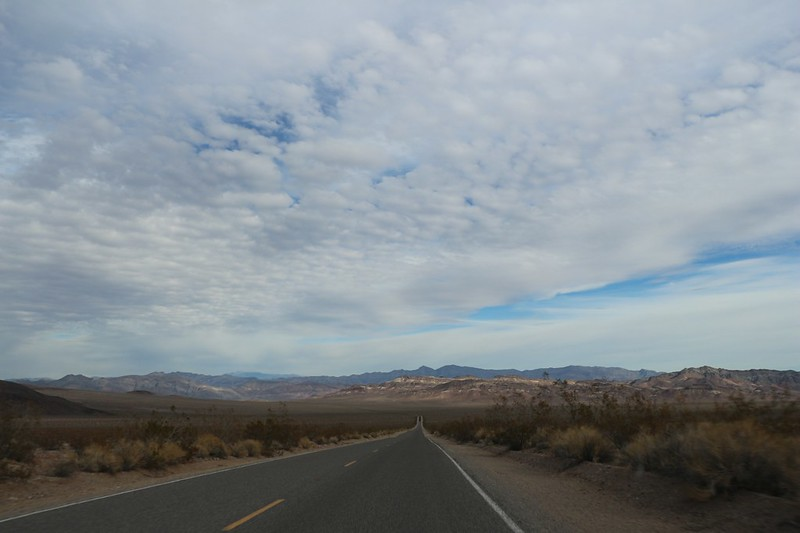 We're leaving Death Valley National Park as we head down into the Greenwater Valley on Highway 178