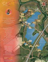 Carte simplifiée des observatoires au Domaine des Oiseaux