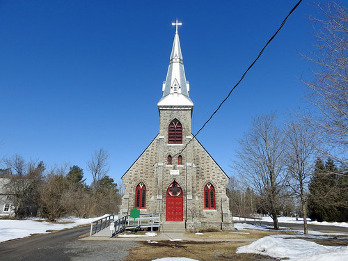 The St. Laurence O'Toole Church in Spencerville, Ontario