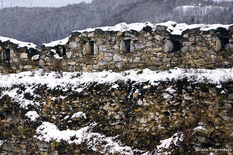 Крепостная стена в Верхнем городе Зворника