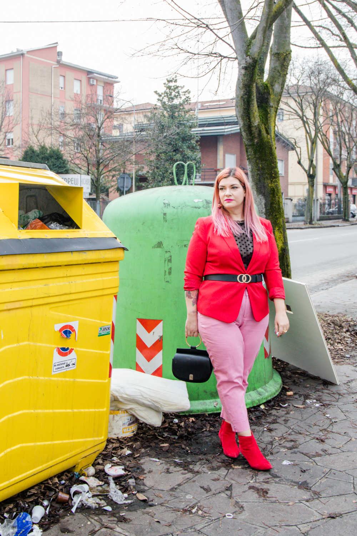 Outfit curvy e plus size, rosso e rosa per San Valentino (2)