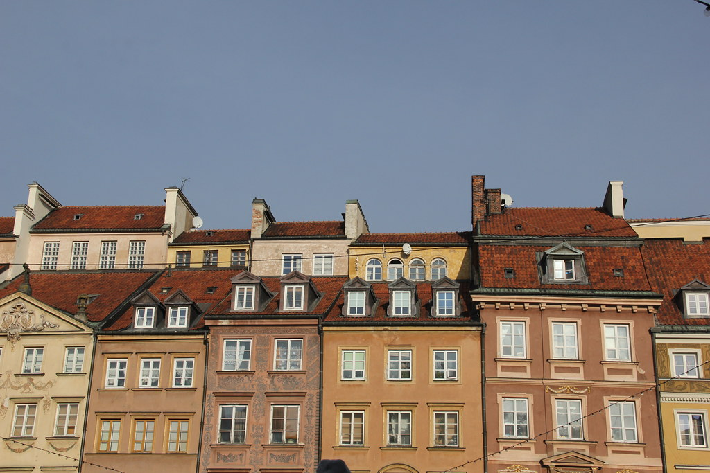 Colourful Buildings, Old Town, Warsaw