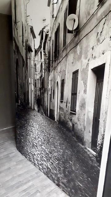 Zwartwit foto muur