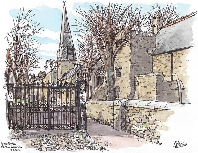 Barnstaple parish church, Devon