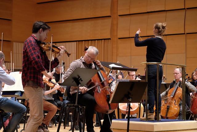 Johan Dalene, violin, och Torleif Thedéen cello,Dirigent: Giedrė Šlekytė