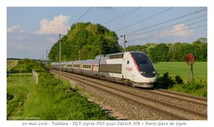 TGV POS Lyria 4403 - Valdieu - Photo of Larivière