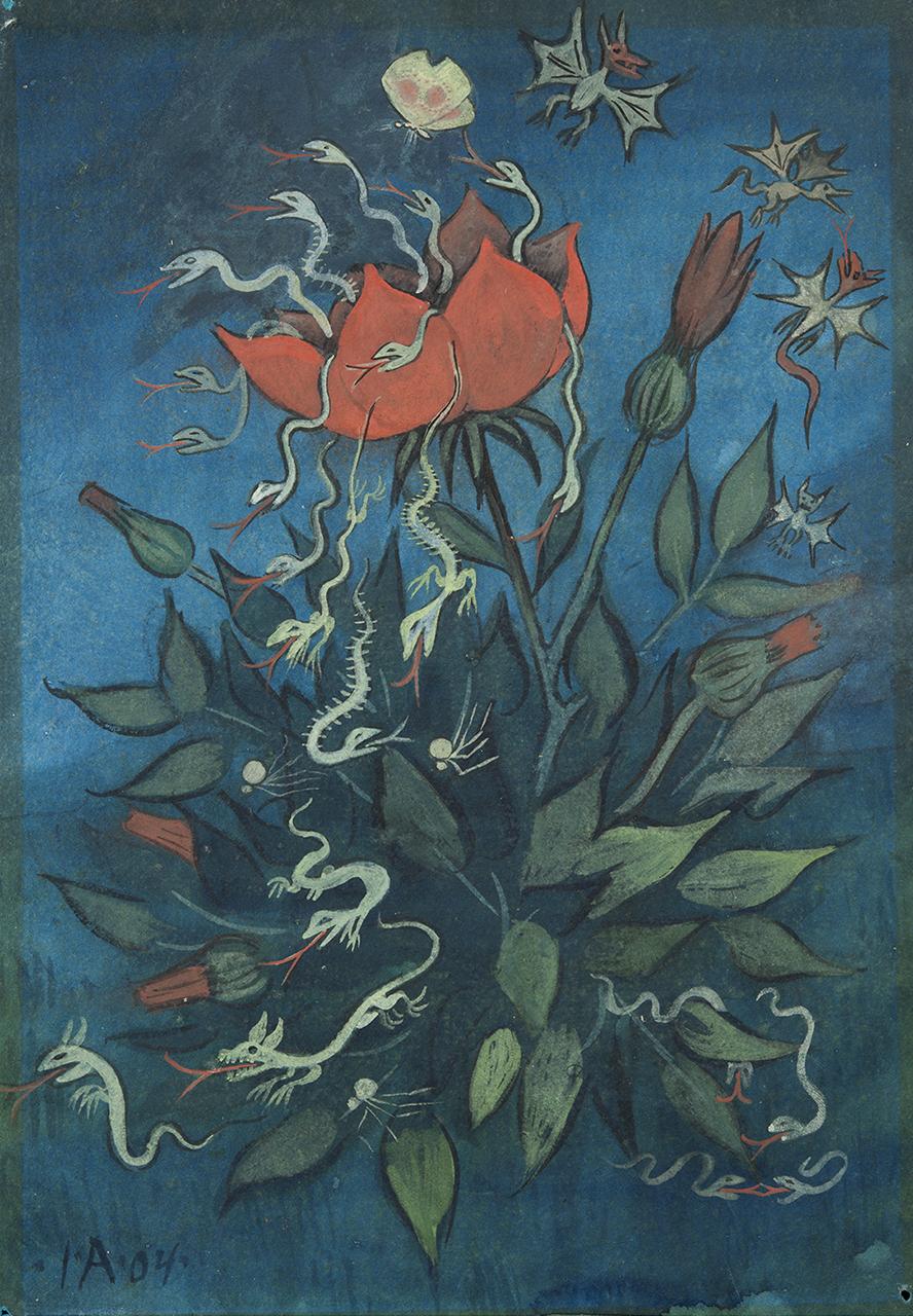 Ivar Arosenius - When the flower burst out, 1904
