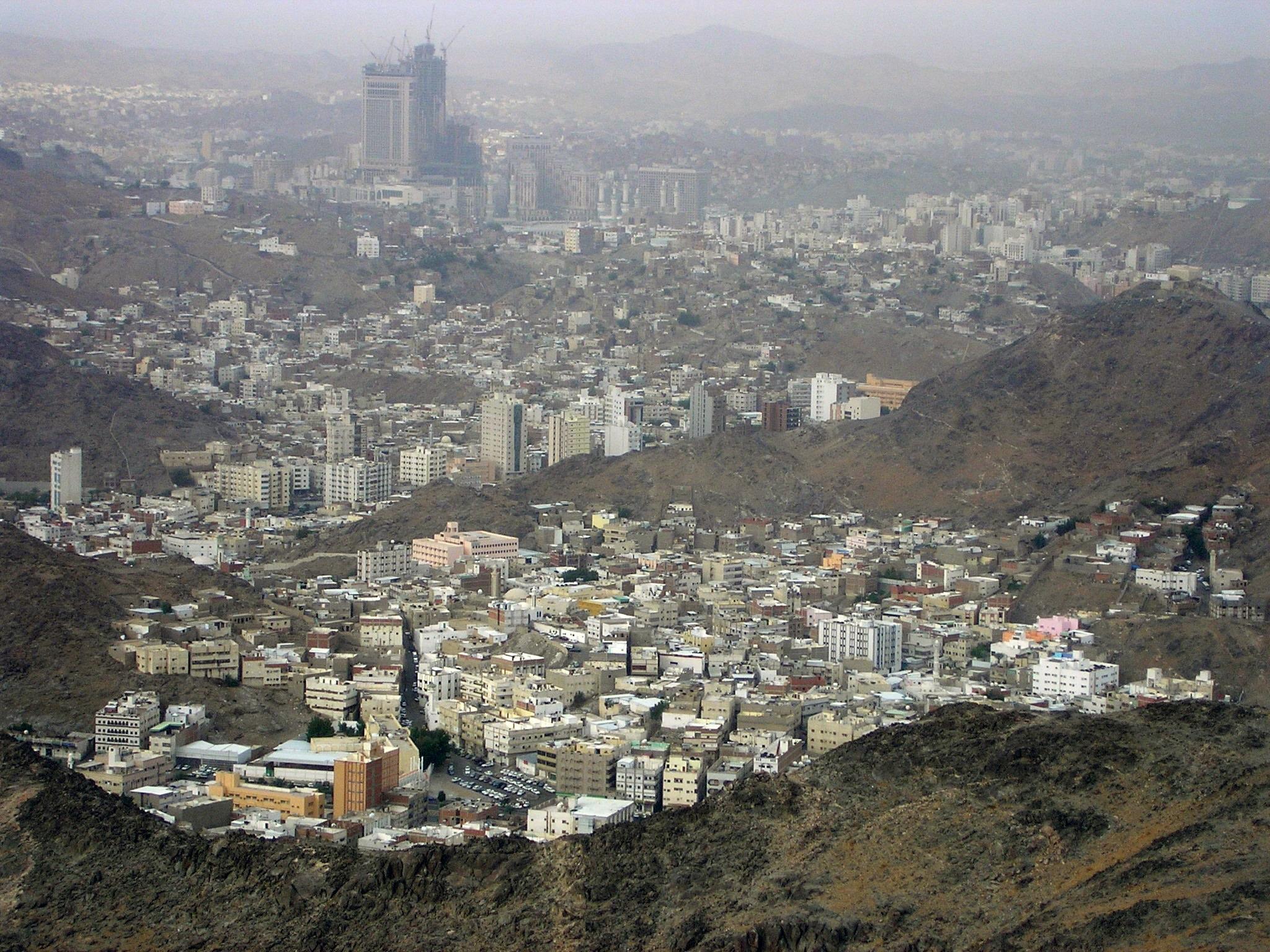 Mecca, as seen from Jabal al-Nour, Photo taken on April 9, 2006.