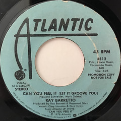 RAY BARRETTO:CAN YOU FEEL IT(LET IT GROOVE YOU)(LABEL SIDE-A)