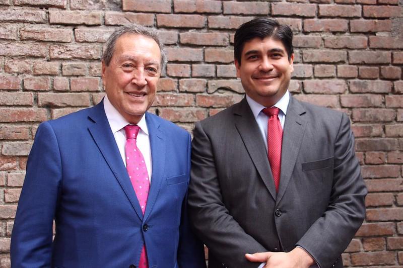 Secretario General del SICA y Presidente de Costa Rica dialogan sobre el Acuerdo SICA-NASA