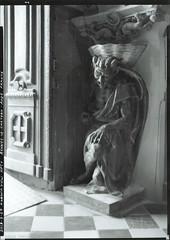Le Diable au bénitier. Rennes-le-Château, Aude, Languedoc. (Korona View 5x7, Ilford HP5+) no.1